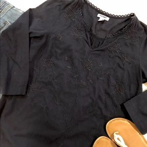 Old navy tunic blouse 3/4 sleeves